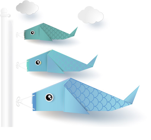 responsive website illustration with fish