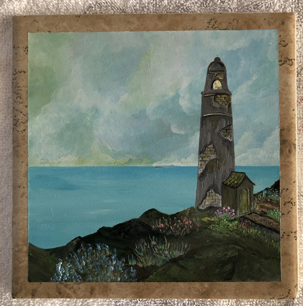Old light house painting
