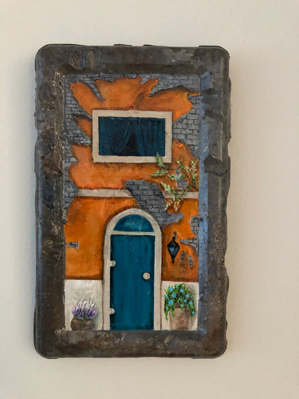 Orange house Painting Candelaria