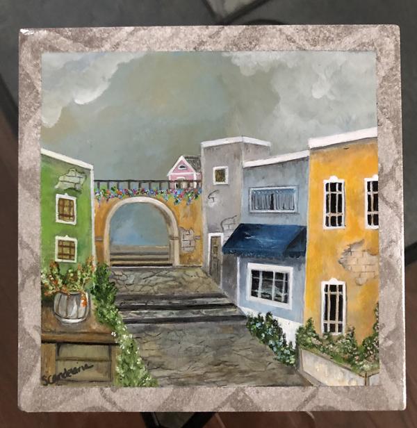 Old San Juan Puerto Rico painting